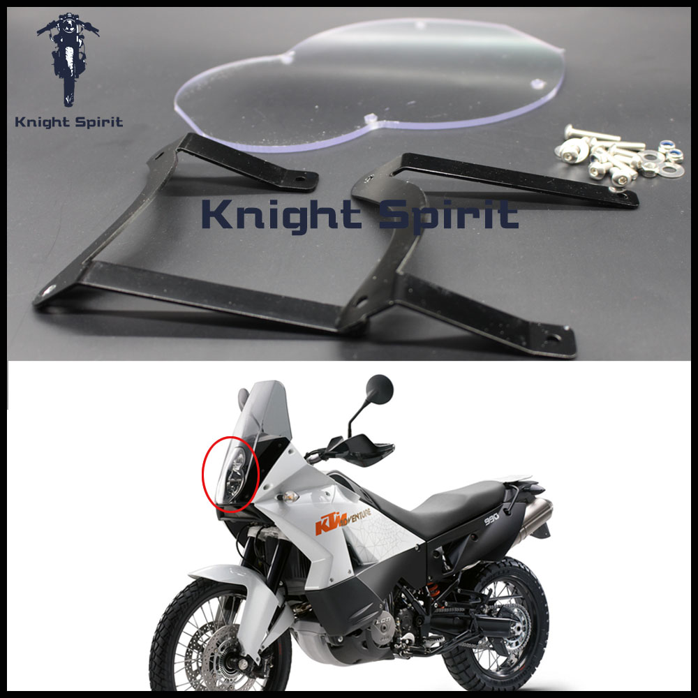 Motorcycle Accessories Headlight Protector Lens Guard Cover Acrylic For KTM 950 ADV 2003-2005 KTM 990 ADV 2006-2013Motorcycle Accessories Headlight Protector Lens Guard Cover Acrylic For KTM 950 ADV 2003-2005 KTM 990 ADV 2006-2013