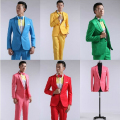 The new high-end 2016 Men's suit wedding host stage studio color suit Two-piece suits