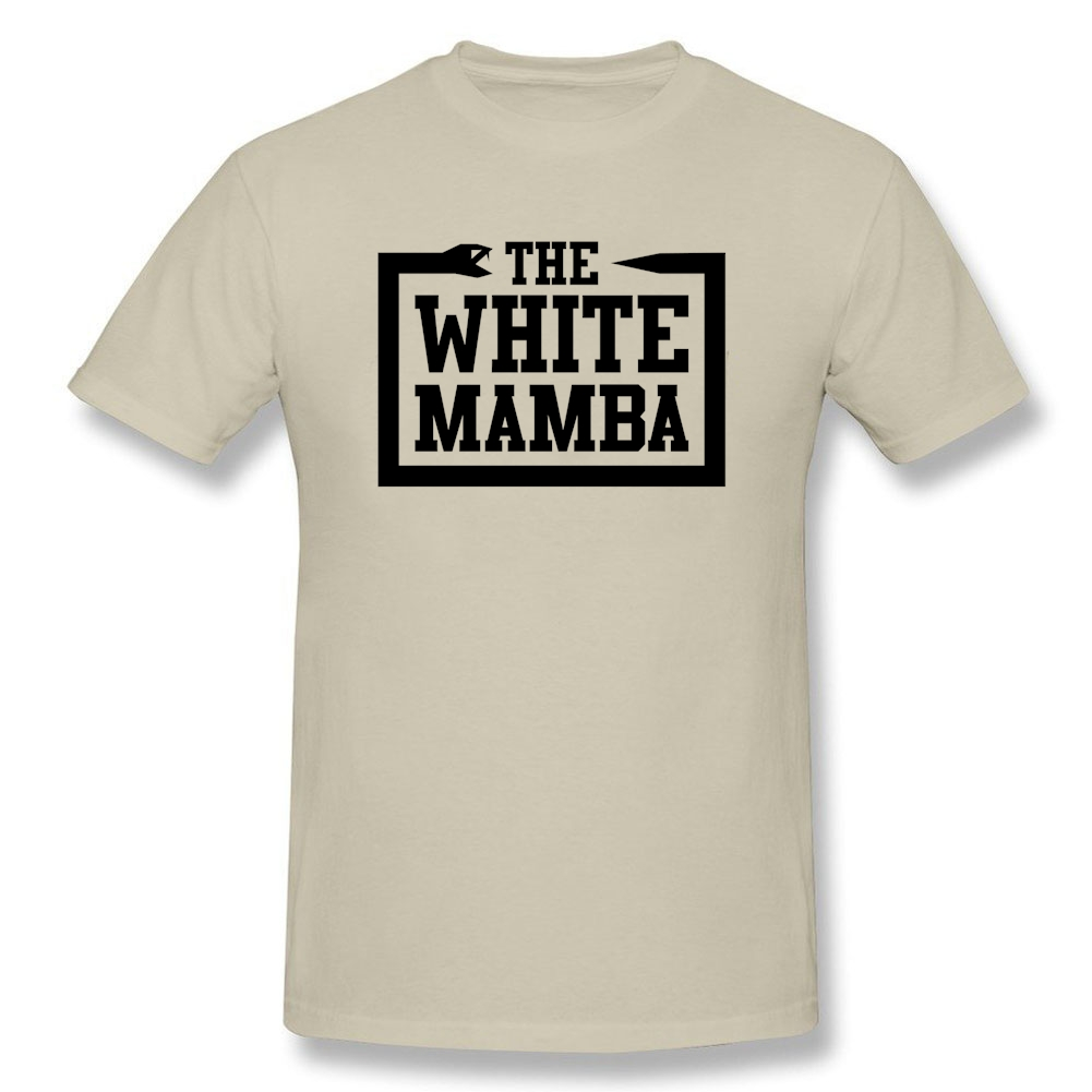 Mens Funny Quotes Graphics T Shirt White Mamba T Shirts For Man
