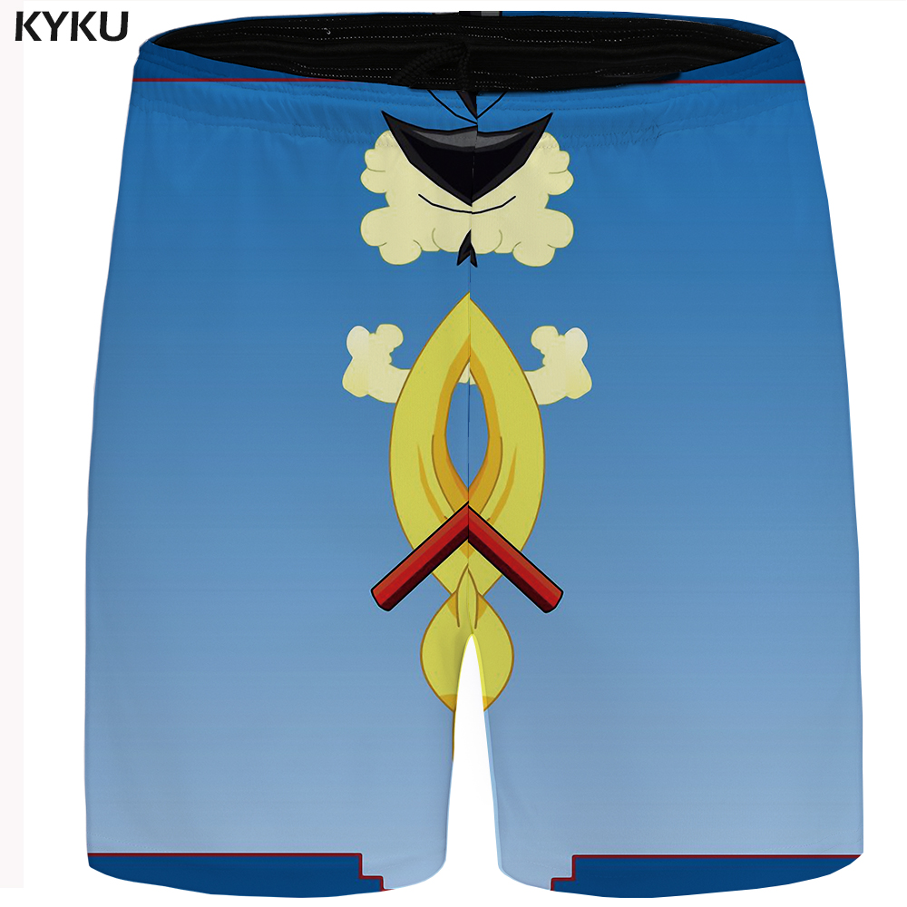 KYKU Dragon Ball Short Men Goku Casual Shorts Cargo Sky Big Size Blue Hawaii Beach Shorts Cloud Mens Shorts Cool Summer New 2018