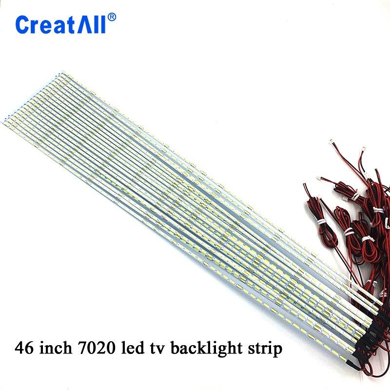2pcs/lot 46'' Inch 7020 LED Edge Strip Aluminum Plate Strip Backlight Lamps Led TV Backlight Strip 520mm