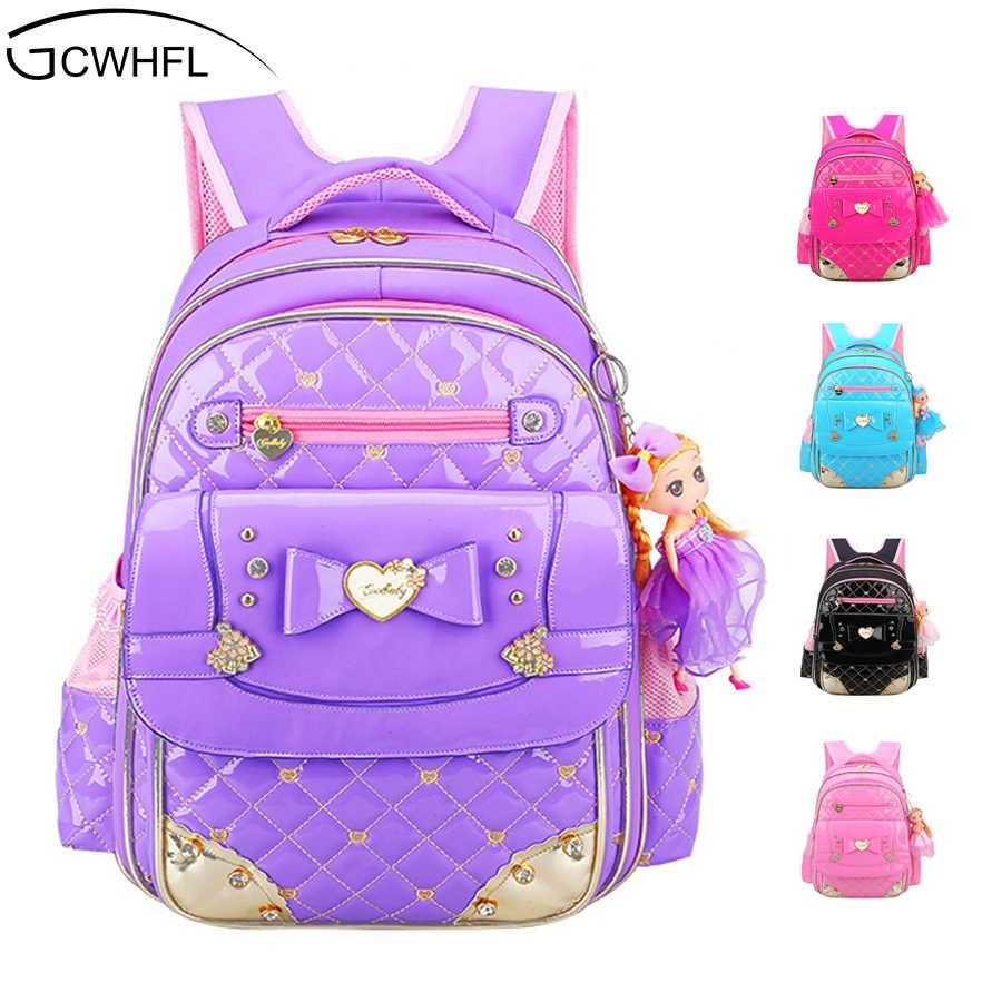 eee3a93ee744 GCWHFL корейский стиль девушки школьные сумки рюкзаки детские школьные  сумки для девочки Рюкзак принцесса Дети Книга