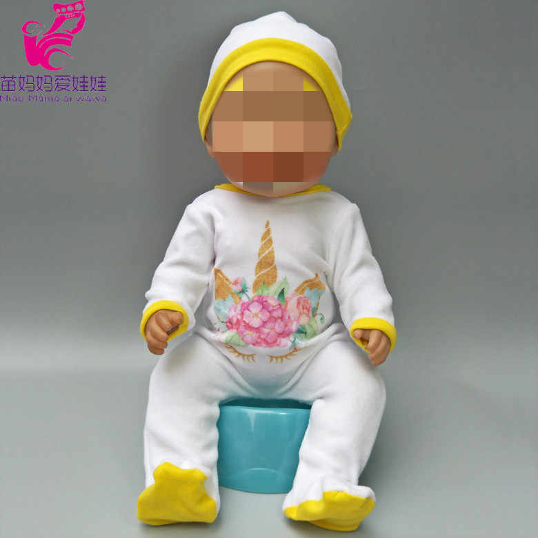 """Roupa da boneca calças flamingo romper conjuntos de roupas para o desgaste do bebê boneca para 18 """"new born baby acessórios da boneca brinquedos desgaste"""