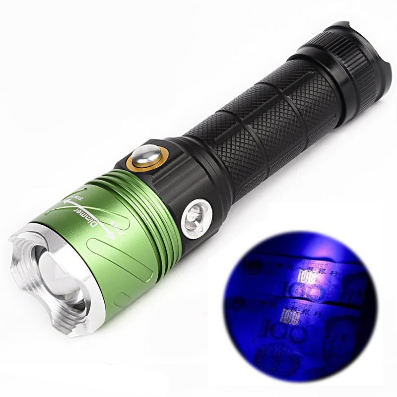 multi function 1500 lumens cree led flashlight uv flashlight 395nm purple violet light uv lamp 4. Black Bedroom Furniture Sets. Home Design Ideas