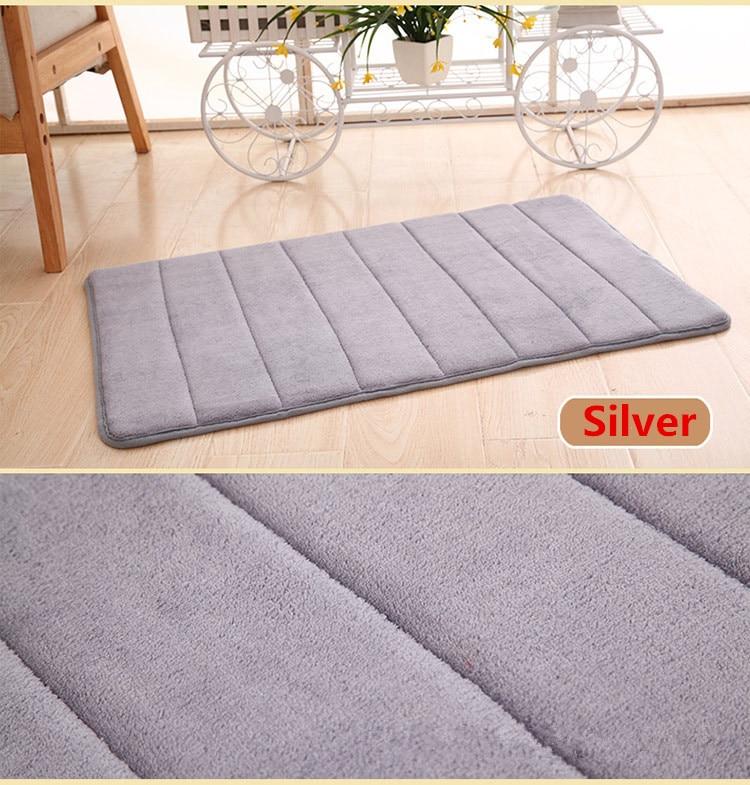 Bathroom Memory Foam Bath Mat Absorbent Carpet Floor Soft Rug Mats Non Slip Bathroom Soft Coral Fleece Carpets Hot Sale