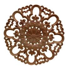 VZLX rebanadas de discos de madera para manualidades DIY Vintage decoración del hogar Accesorios de boda decoración de la fiesta suministros figurita