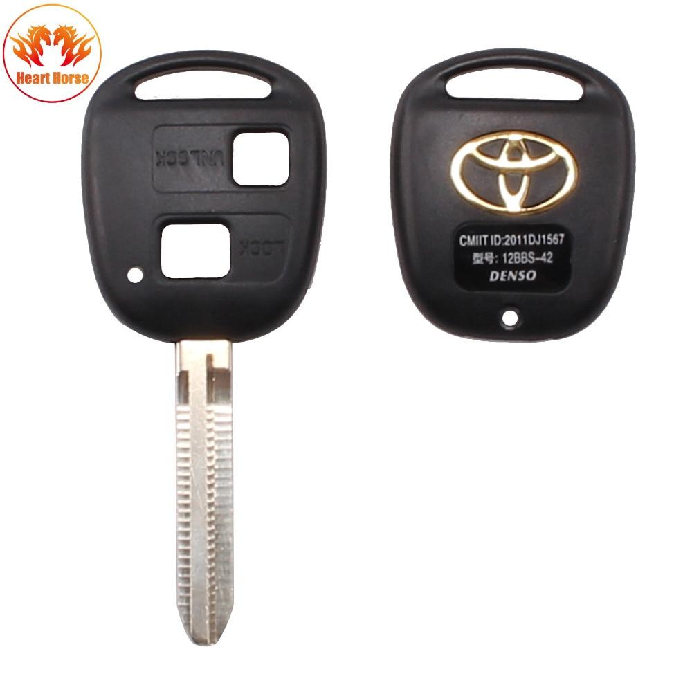 2 button remote key fob case for toyota camry rav4 prado corolla tarago avensis avalon ehco land cruiser car key shell cover