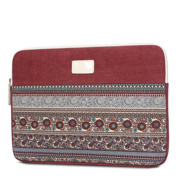 Laptop sleeve 13 14 15 polegada para o caso macbook air 13 notebook laptop bag ipad caso da lona do estilo nacional para lenovo samsung dell