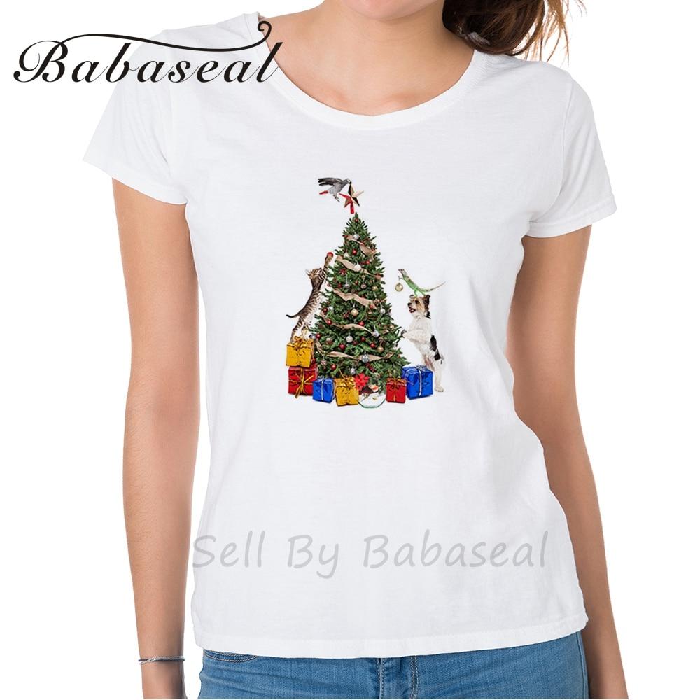 Decorador de arboles de navidad 187 home design 2017 - Babaseal Mascotas Decoraci N Del Rbol De Navidad Cuadro Lindo Para Mujer De La Camiseta Japonesa Del