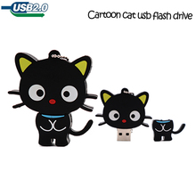 USB stick real capacity pen drive 4GB 8G 16GB 32GB 64GB cartoon cute cat memory u disk  Personalized gift pendrive