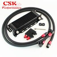Fits For BMW 335: N54 E90 E92 E93/135: E82 7 Row AN10 Oil cooler w/Bracket Hose Kit