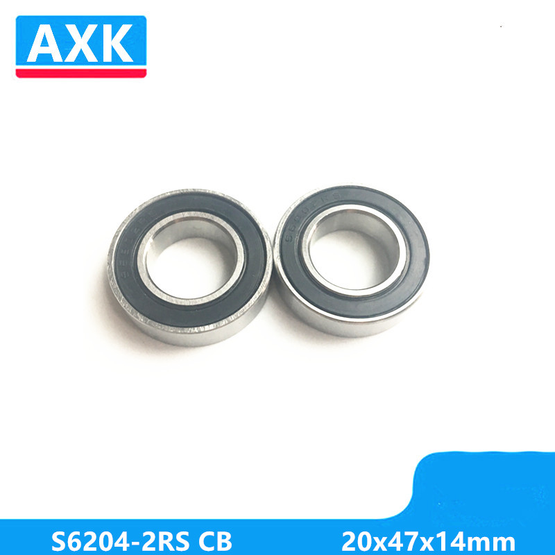Axk S6204-2rs Cb Abec-3 Stainless Steel 440c Hybrid Ceramic Deep Groove Ball Bearing 20x47x14mm 6204-2rscb free shipping s608 2rs cb stainless steel 440c hybrid ceramic deep groove ball bearing 8x22x7mm 608