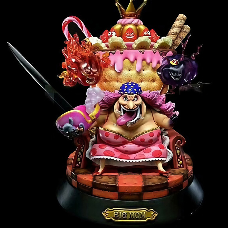 Tronzo Action Figure 23cm One Piece Figure PVC Kaido Newgate Charlotte Linlin Figure Toys Big Mom Collectible Model Gift new anime one piece kaido four emperors edward newgate white beard big mom 24cm pvc action figure model doll toys in boxed
