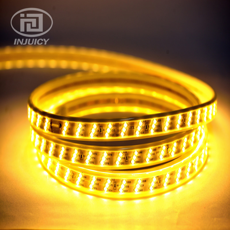 SMD2835 LED Strip Light High Power Flexible Tape Lamp Waterproof IP67 3 Rows 180 leds/M 2835 Led Strip Rope 220V Outdoor Indoor