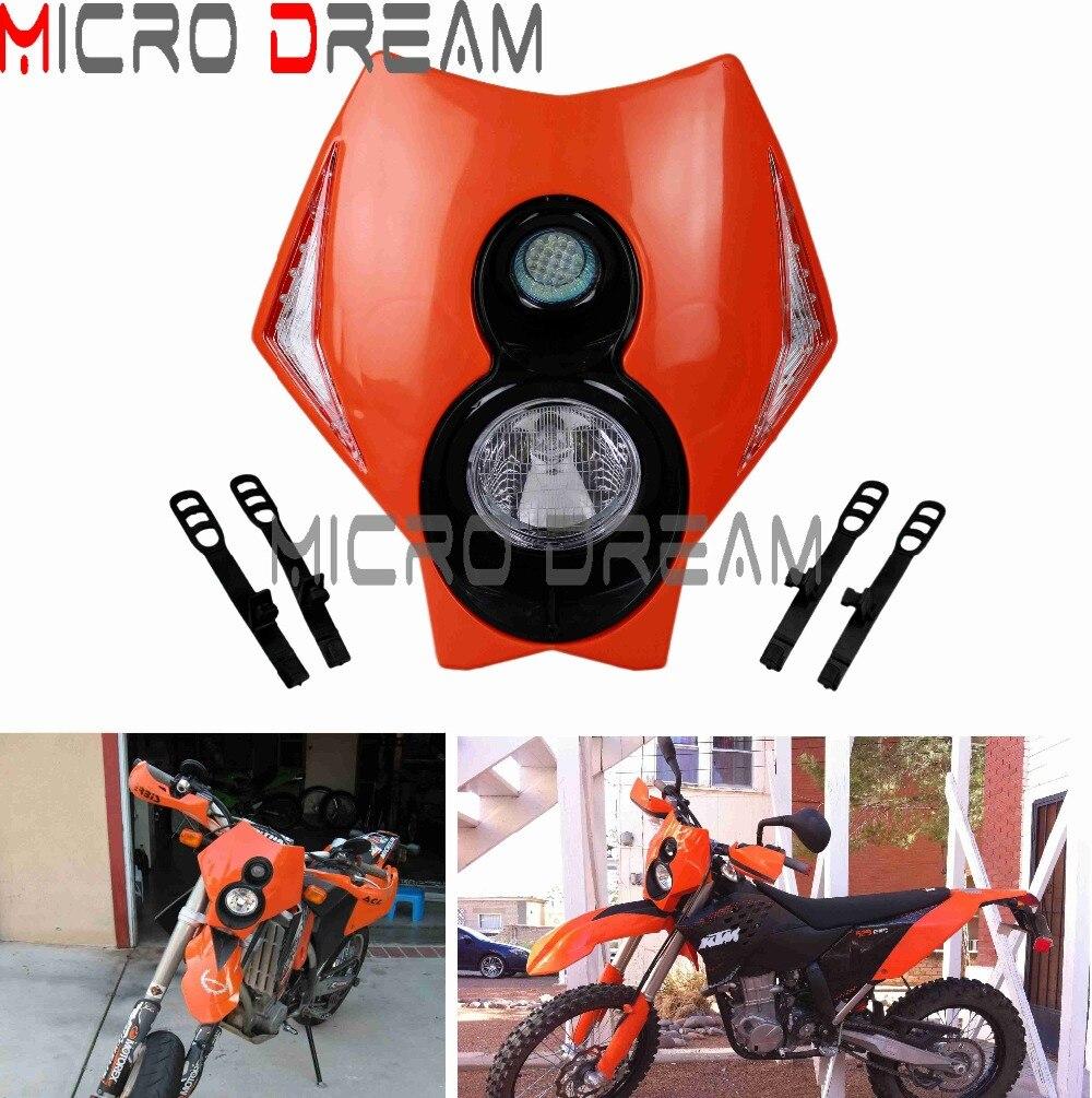 Black Motorcycle Tail Light Rear Fender LED Brake Light Universal For KTM Honda Yamaha EXC EXCF SX SXF Dirt Pit Bike Off Road Motocross
