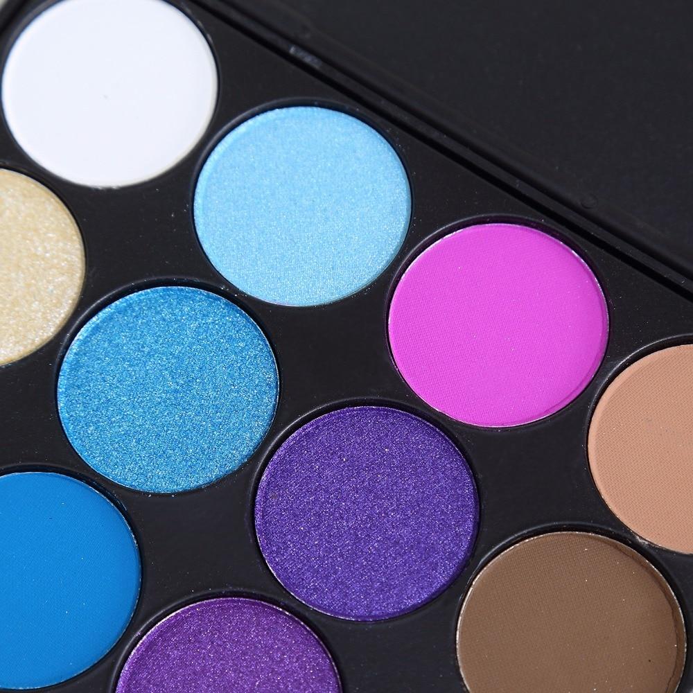 Brand New 15 Color Matte Pigment Glitter Øjenskygge Palette - Makeup - Foto 5