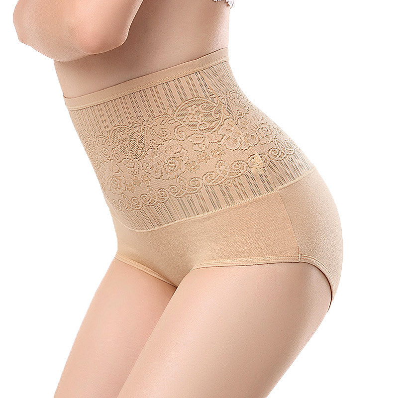Woman sexy Lingerie jacquard cotton underwear briefs postpartum Tighten abdominal hips waist seamless   Panties