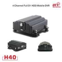 4CH D1 DVR HDD, 4 canal cctv dvr com SMS RJ45 barato, H40-4G