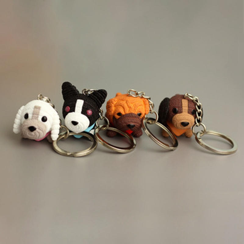 2018 New Arrival Dog Pendent Key Chain PVC Car Pendent Girl Gifts