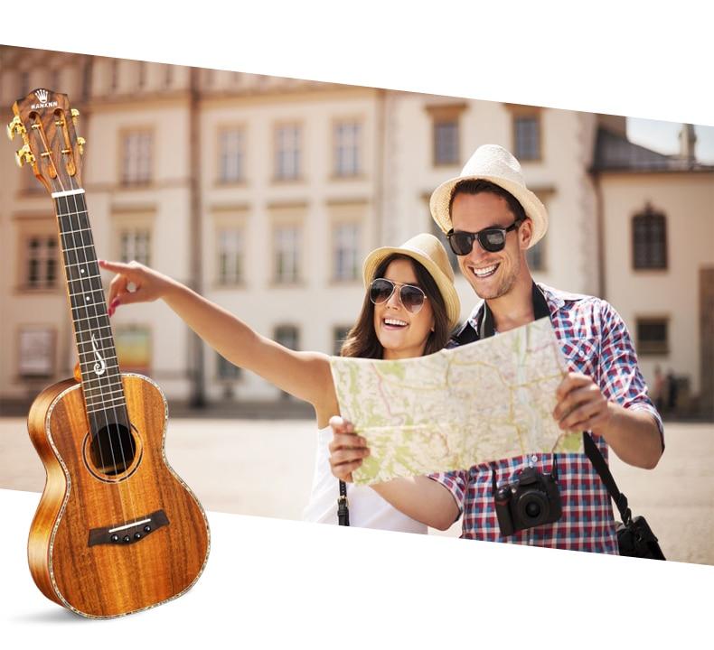 "Envío libre 23 \""superior KOA maciza concert Ukulele Hawaii Guitarra Acústica in"