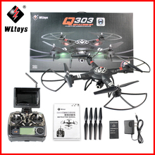 hot deal buy wltoys q303 professional rc drones quadcopters 2.4ghz 4ch 6 axis fixed-height mode rc quadcopter rtf aircraft with camera drones