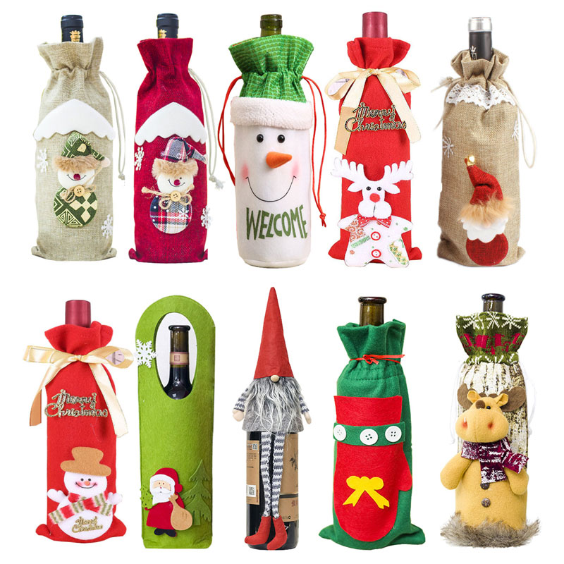 Couvercle de bouteille de vin de noël   Décorations de noël de noël, pour dîner Natal à la maison, cadeau du nouvel an, nouvelle collection 2019