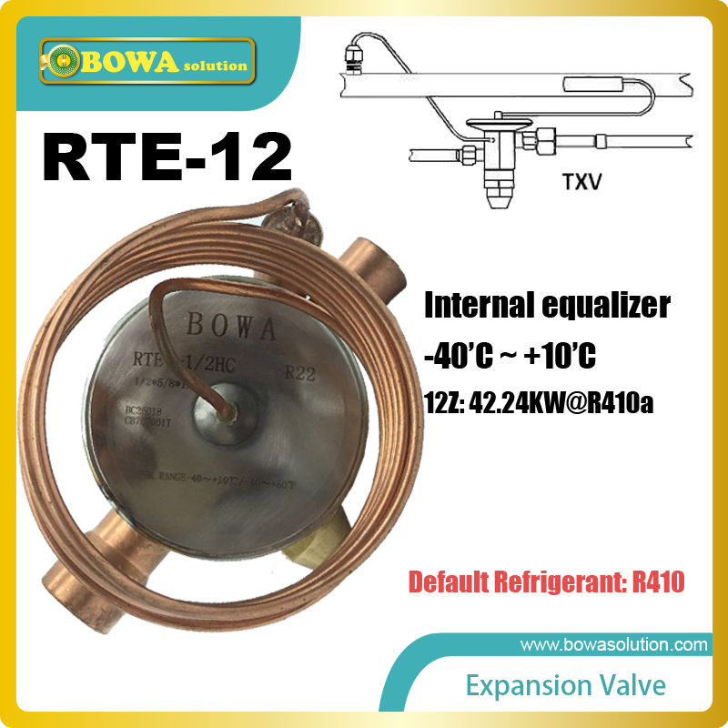 RTE-12 Thermostatic Expansion Valves with SELECTIVE THERMOSTATIC CHARGES and DIAPHRAGM DESIGN to get stable superheat & no leaksRTE-12 Thermostatic Expansion Valves with SELECTIVE THERMOSTATIC CHARGES and DIAPHRAGM DESIGN to get stable superheat & no leaks