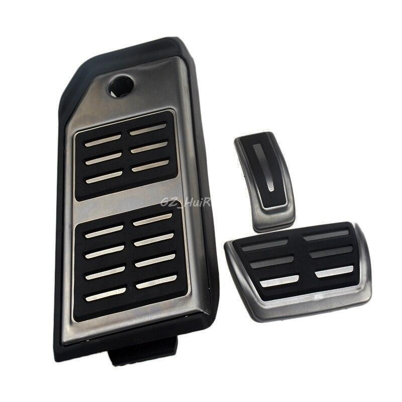 Accessoires de voiture 3 pièces/ensemble en acier inoxydable frein à essence repose-pieds pédale Pad plaque pour Audi Q7 2016 2017 autocollants style