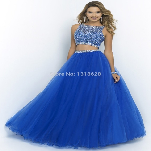 Colorful bedazzled prom dresses