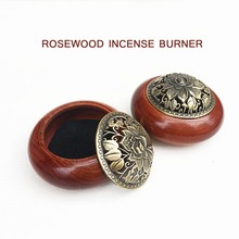 Rosewood aromatherapy incense box stick sandalwood creative wood coil burner with lid Home decoration