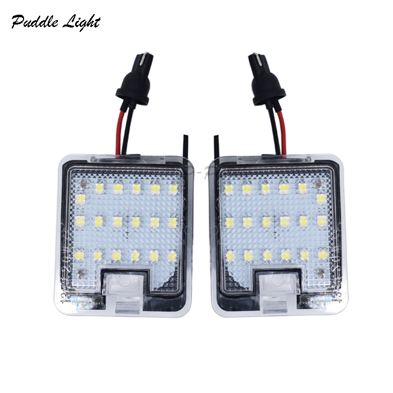 2pcs White Full LED Side Mirror Puddle Light For Ford Mondeo C-Max Focus Kuga Escape puddle light assembly Auto Lighting