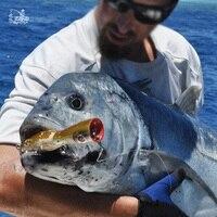 Gran GT Popper Señuelo de superficie De Madera HACIENDO ESTALLAR Mar Cebo de Pesca de Pesca de Atún Gancho Mustad 1 Caranx unids/bolsa 6 7 Pulgadas Ignobilis