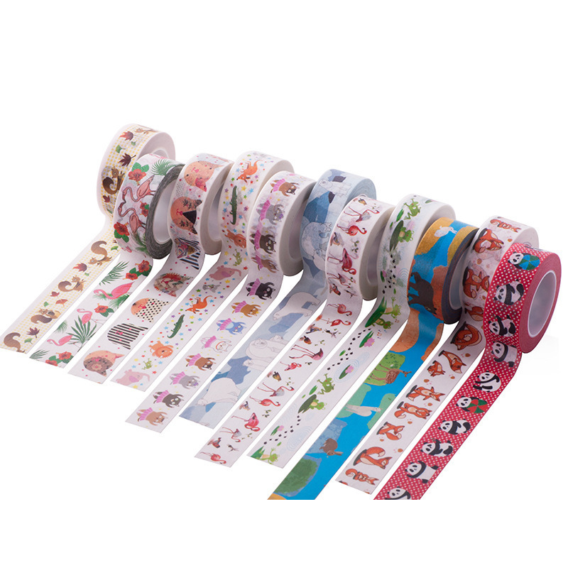 1PCS New Flamingo Washi Tape DIY Decoration Scrapbooking Planner Masking Tape Adhesive Tape Kawaii Stationery Клейкая лента