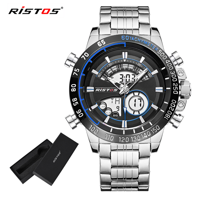 e04715623693 Relojes deportivos de acero inoxidable para Hombre