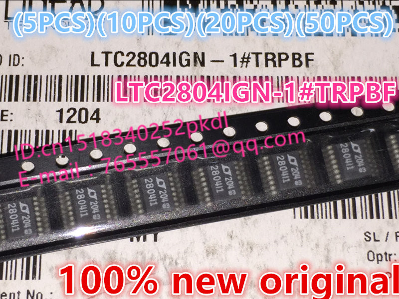 (5 PCS) (10 PCS) (20 PCS) (50 PCS) 100%New original  2804I1 LTC2804IGN   LTC2804IGN-1#TRPBF  SSOP16   IC chip compatible oki c9800 c9850 drum unit reset image drum unit for okidata c9850 c9800 printer laser parts for oki 9800 9850 unit