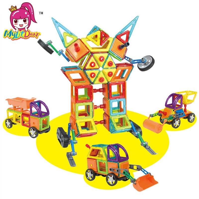 MylitDear 192 sztuk magnetyczne klocki zabawki budowa modelu DIY 3D projektant magnetyczny zabawki edukacyjne cegły dla dzieci prezenty dla dzieci w Magnetyczne od Zabawki i hobby na AliExpress - 11.11_Double 11Singles' Day 1