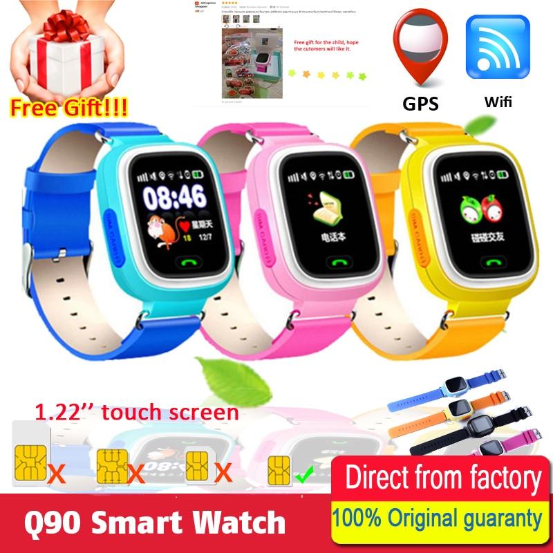 Child Baby smart watch Q90 GPS Phone Positioning Fashion Children Watch 1 22 Inch Touch Screen