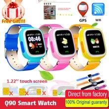 Купить Ребенок Smart Watch Q90 GPS телефон позиционирования Мода Дети часы 1.22 дюймов Сенсорный экран WI-FI SOS Smart Watch PK Q50 Q750