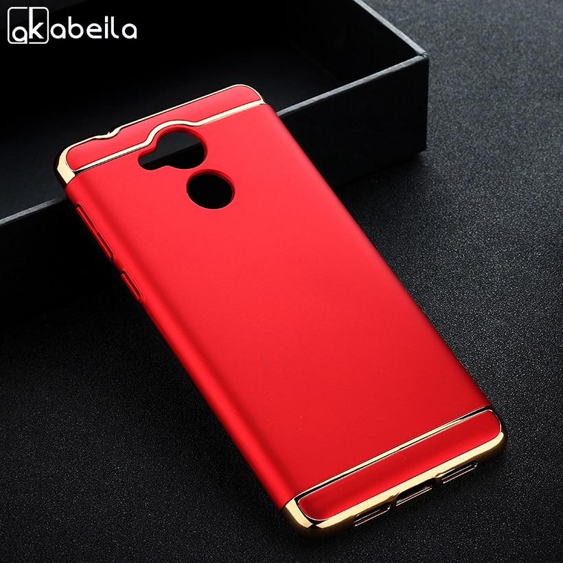 AKABEILA Plating Plastic Case For Huawei Enjoy 6S Honor 6C NOVA Smart Honor6C 5.0 Inch Covers Matte Phone Bag Plating Back