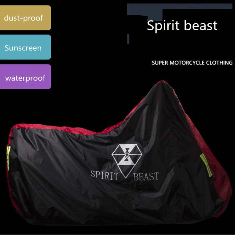 Spirit Beast Motorcycle Cover Sunscreen Clothing Electric Car Waterproof Windproof Dustproof MOTO Accessories image
