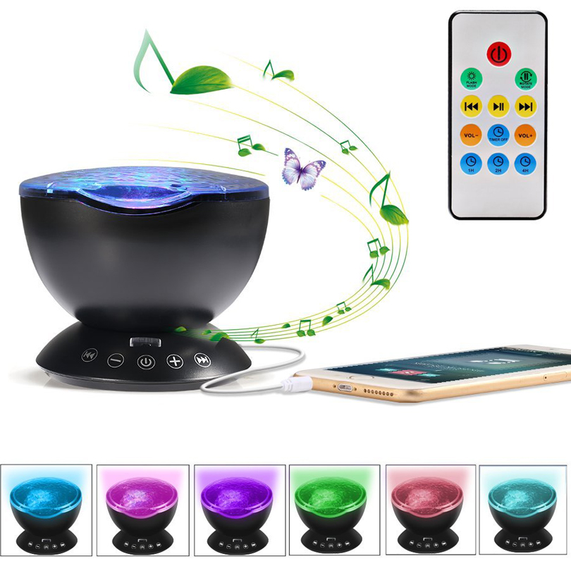 цена на Ocean Wave Starry Sky Roating LED Night Light Projector Holiday Baby Kids Aurora Sky Cosmos Romantic USB Lamp Projection X 10