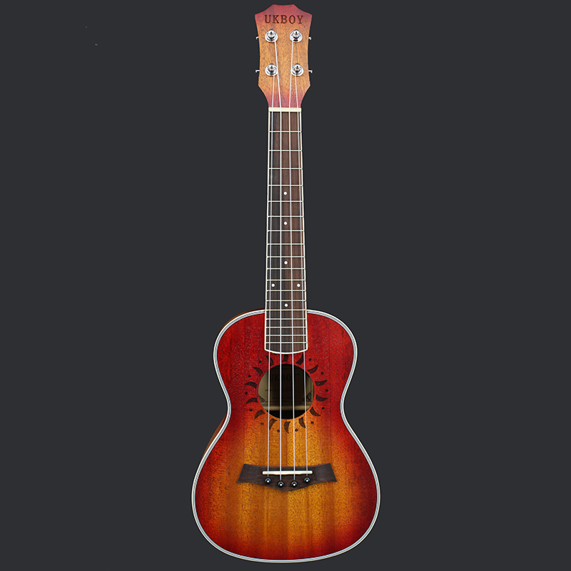23 4 Strings Rosewood Fingerboard Hawaii Sapele Acoustic Guitar Ukulele for Beginners zebra professional 24 inch sapele black concert ukulele with rosewood fingerboard for beginner 4 stringed ukulele instrument