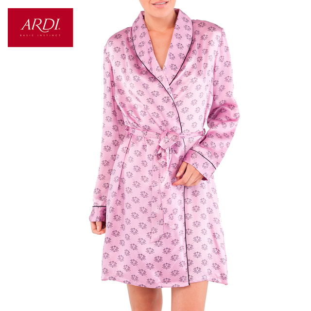 Home Robe Female Silk Woman Lingerie Bathrobe S M L XL 38 40 42 44 Free Delivery ARDI R1256-48
