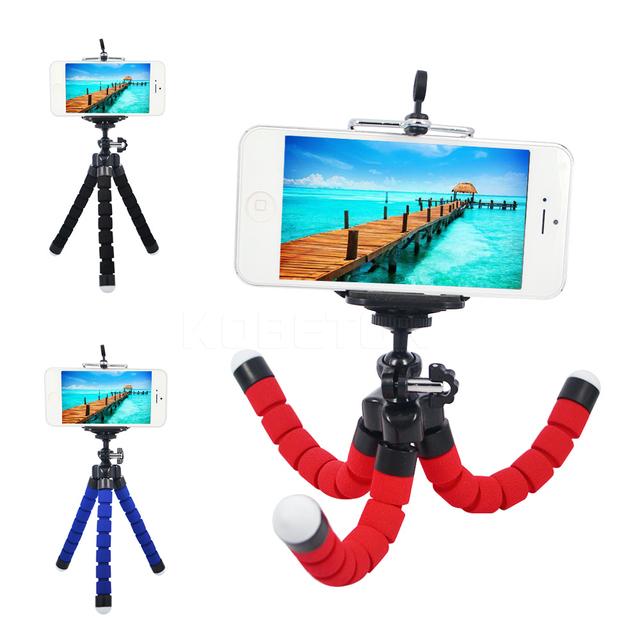 kebidu Car Phone Holder Flexible Octopus Tripod Bracket Selfie Stand Mount Monopod Styling Accessories + Remote Control