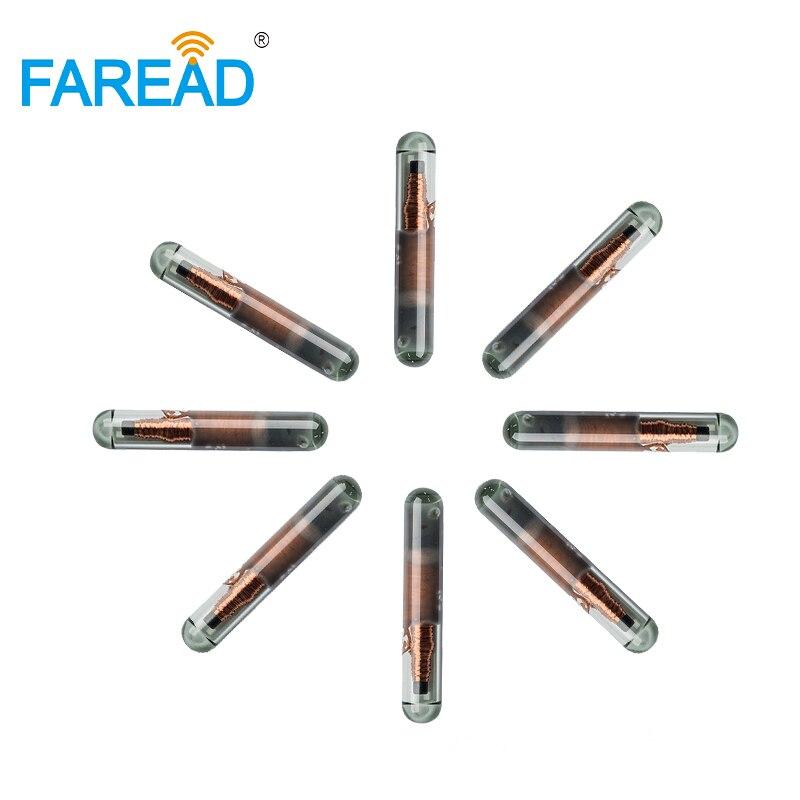 X80pcs 125KHZ 2*12mm Q5 T5577 UID/ID64/Manchester/Unique/64bit RFID Glass Tag For Identification Management