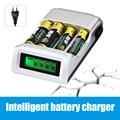 Горячие продажи Батареи Зарядное Устройство для ЕС Plug Смарт Интеллектуальный LCD дисплей для AA/AAA NiCd Nimh Батареи Бесплатно доставка