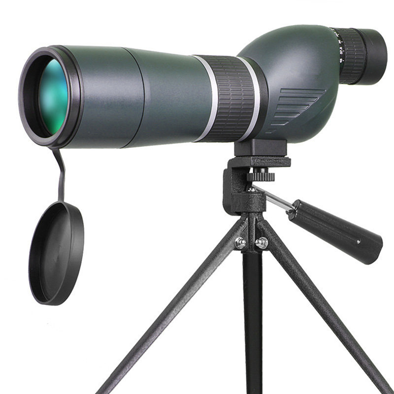 Hot Sale 15-45x60 HD Hunting Optics Monocular Zoom Len Telescope for Bird Watching Spotting Hiking Viewing with Case Tripod hot selling 15 40x50 zoom hd monocular bird watching telescope binoculars with portable tripod spotting scope blue coating