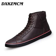 2017 Fashion Winter Men Flat Shoes, Lace Up Super Warm Cow Leather Men Boots, Casual Men Ankle Boots