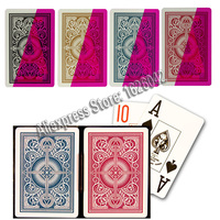 Magic Poker XF KEM Plastic Invisible Playing Cards Marked Cards UV Lenses Color Filter Magic Props Casino Cheating