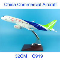 32CM 1:200 COMAC C919 model Air China airlines with base airbus metal alloy plastic aircraft plane collectible decoration model